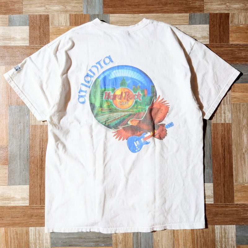 <img class='new_mark_img1' src='https://img.shop-pro.jp/img/new/icons6.gif' style='border:none;display:inline;margin:0px;padding:0px;width:auto;' />90's Hard Rock CAFE ATLANTA Tシャツ (メンズ古着)