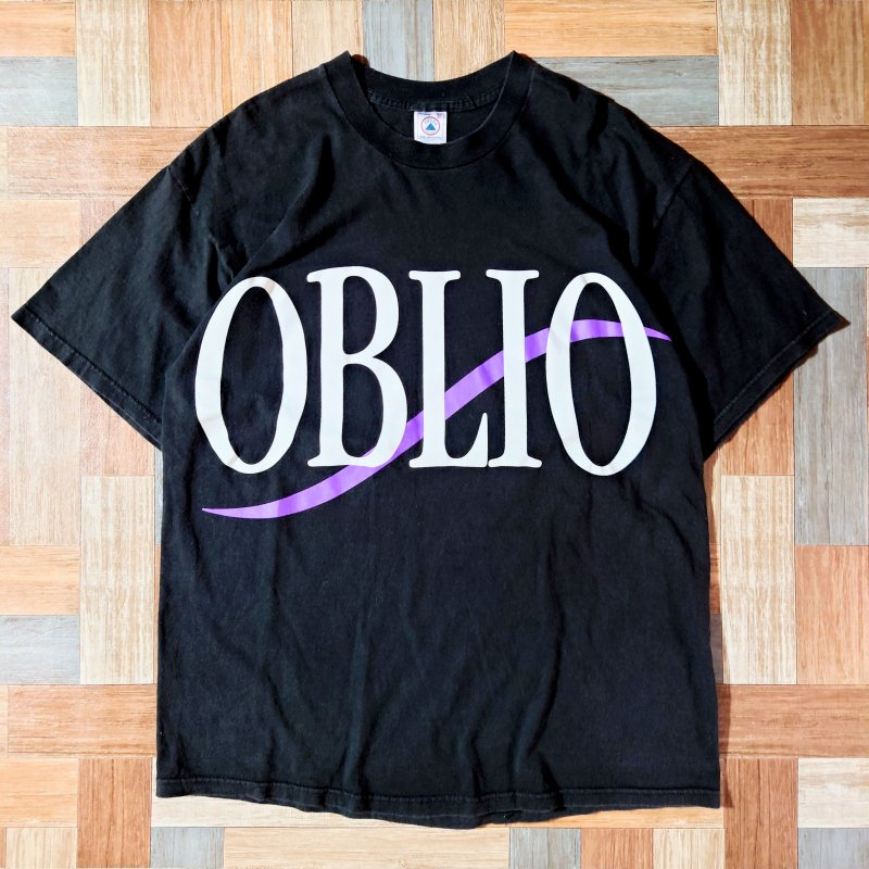 DELTA PRO WEIGHT OBLIO Tシャツ ブラック (メンズ古着)