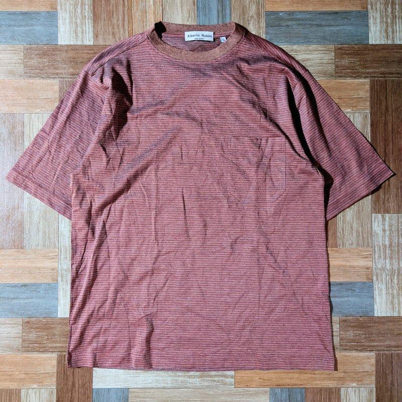 Alberto Rubini イタリア製 ボーダー Tシャツ DEAD STOCK (メンズ古着)