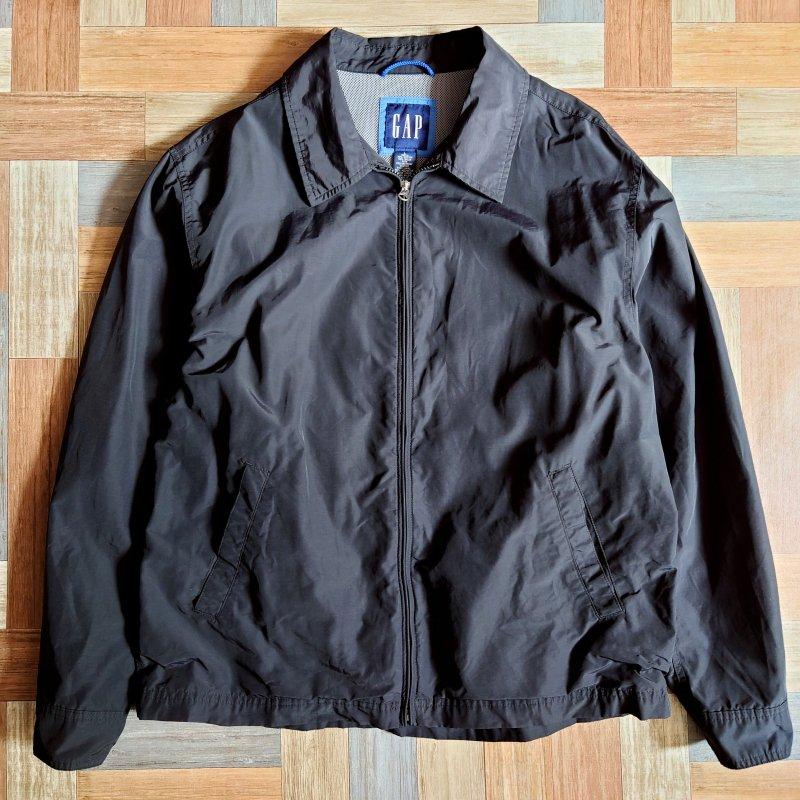 90's GAP コーチ ジャケット ブラック (メンズ古着)