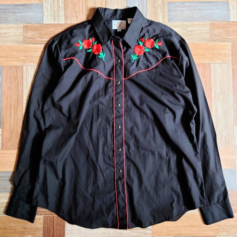 Country Charmers ウェスタン シャツ ブラック (レディース古着)