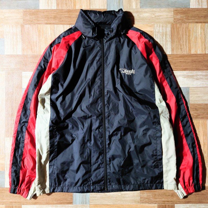 90's Bear USA ナイロン ジャケット ブラック (メンズ古着)