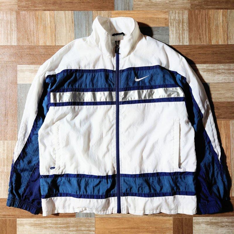 90's NIKE トラック ジャケット ホワイト (メンズ古着)
