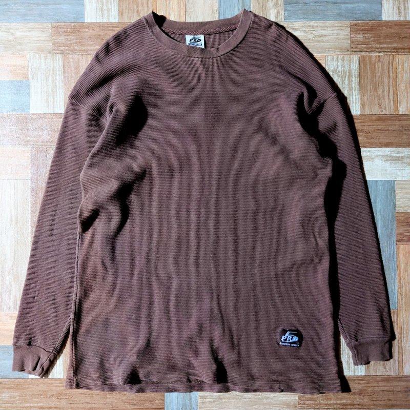 PRO5 USA製 サーマル 長袖 Tシャツ ブラウン (メンズ古着)