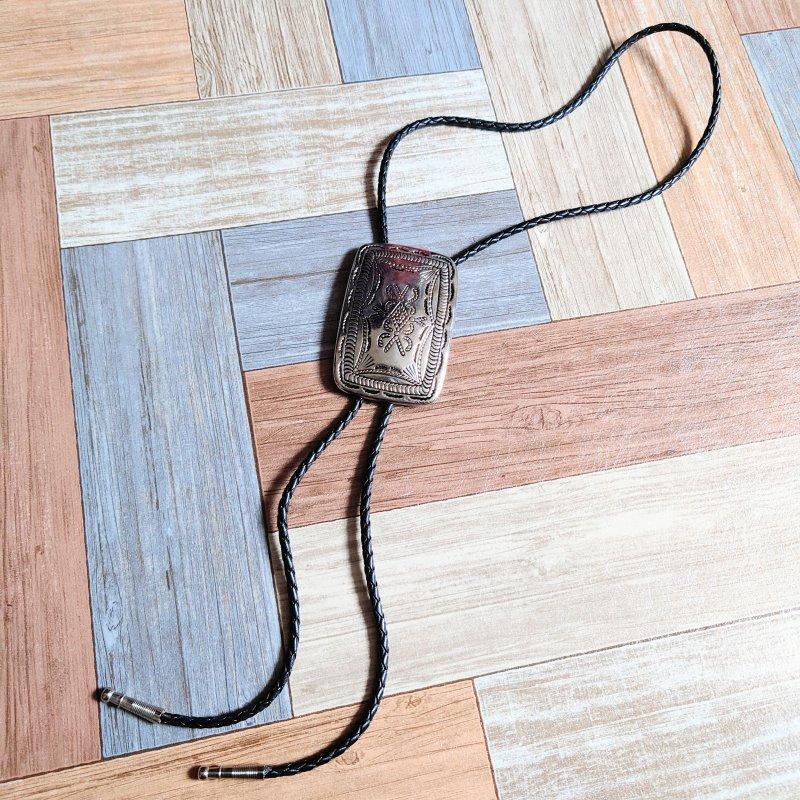 TOGA メタルトップ レザー ループタイ ブラック (USED&VINTAGE)