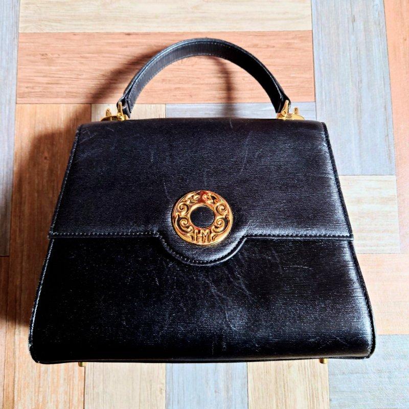 Vintage HANAE MORI ハンド バッグ ブラック (USED&VINTAGE)