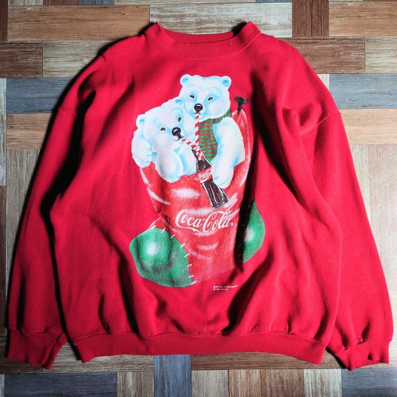 90's Coca Cola USA製 スウェット レッド (メンズ古着)