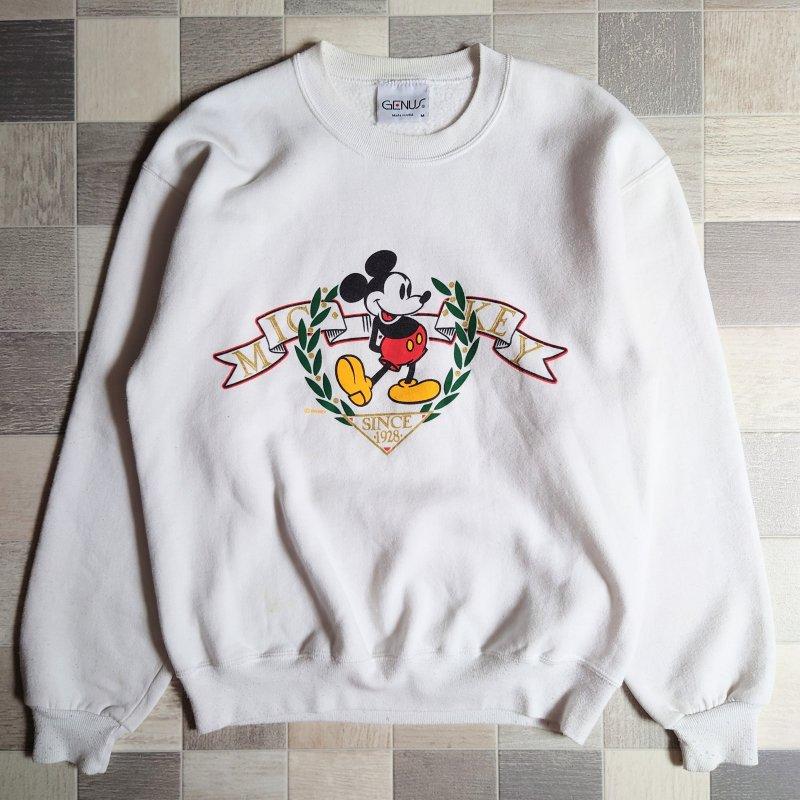 90's Disney USA製 ミッキー スウェット ホワイト (VINTAGE)
