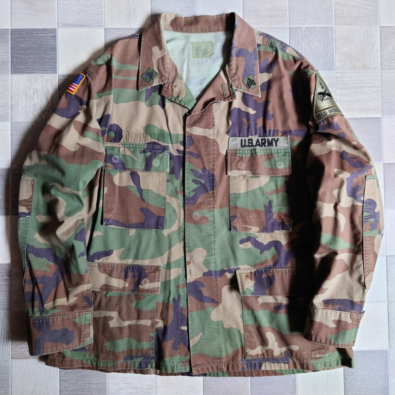 90's US ARMY 迷彩 ファティーグ ジャケット (VINTAGE)