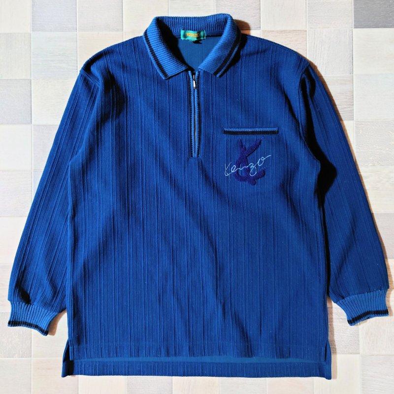 90's KENZO GOLF ハーフジップ コーデュロイ ニット (VINTAGE)