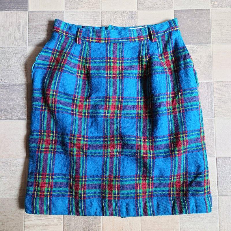 CIRCLET タータンチェック スカート ブルー (USED)