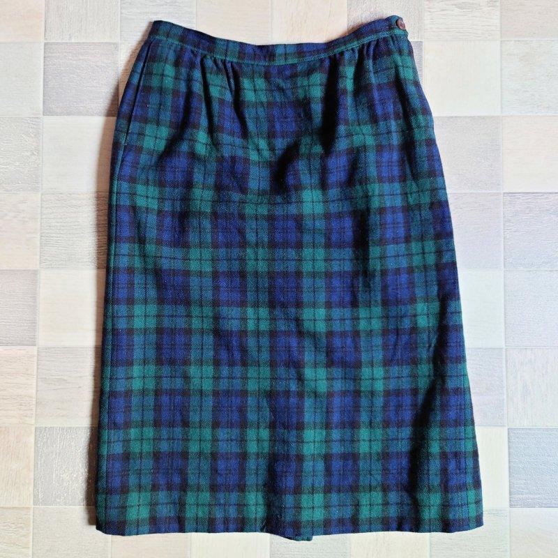70~80's PENDLETON USA製 ウール チェック スカート (VINTAGE)