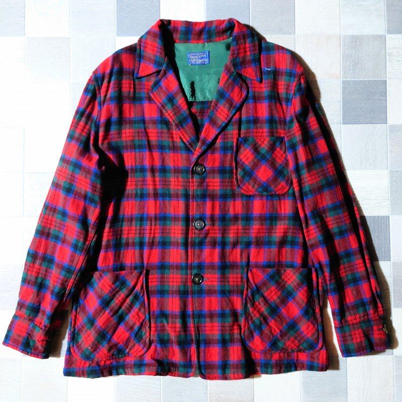 50's PENDLETON USA製 フランネル シャツ ジャケット (VINTAGE)