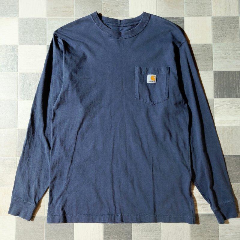 carhartt 長袖 Tシャツ ネイビー (USED)