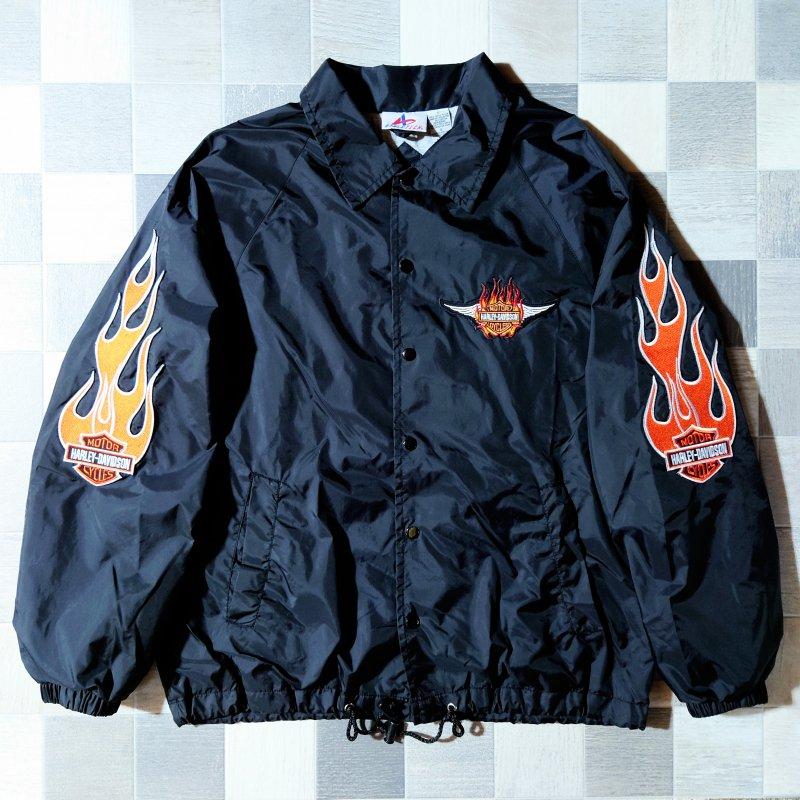 90's ATHLETECH カスタム コーチ ジャケット ブラック (VINTAGE)