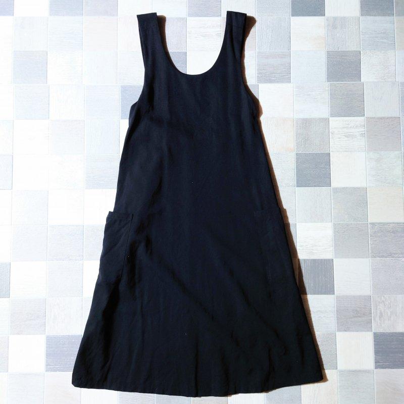 90's agnes b. フランス製 ジャンパースカート ブラック (VINTAGE)