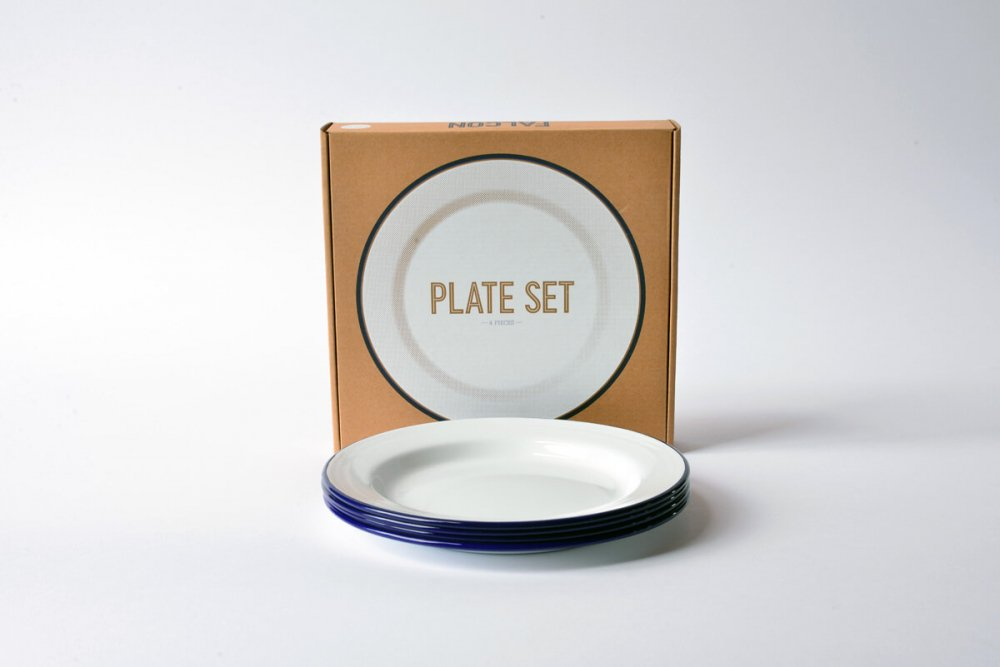 ENAMEL PLATE SET - WHITE