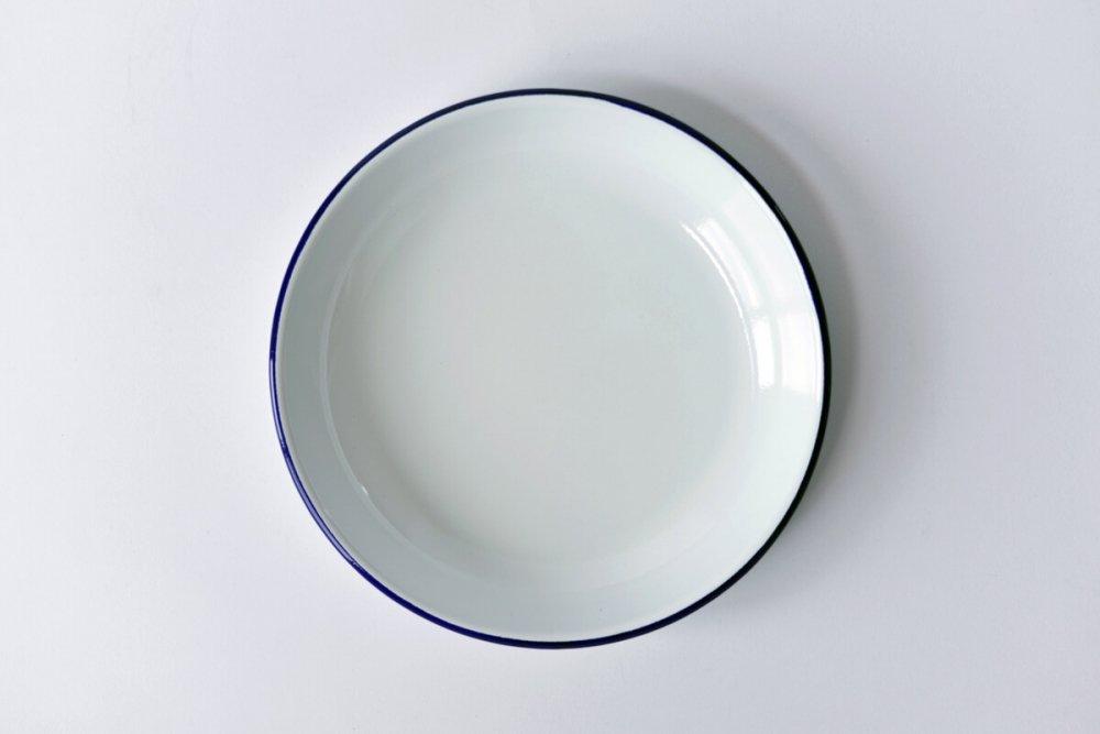 ENAMEL DEEP PLATE - WHITE