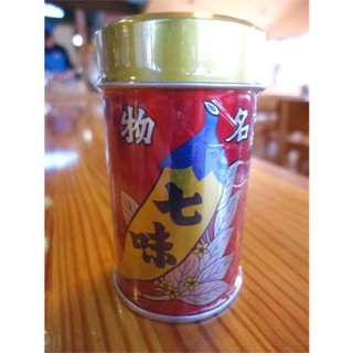 八幡屋礒五郎(やわたやいそごろう) 七味 唐辛子 缶