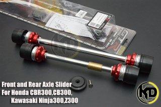 カワサキ Ninja250 ニンジャ250 GTR フロント スライダー リヤ スライダー セット 3色