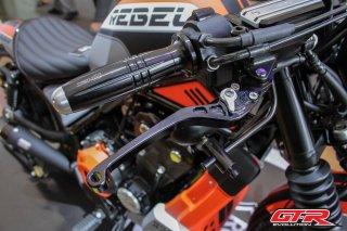 ホンダ レブル250 レブル500 GTR 6段調整 ブレーキレバー 2色