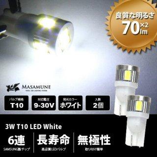 ヤマハ NVX125 ポジション球 スモール球 ホワイト 3W T10 LED 2個セット