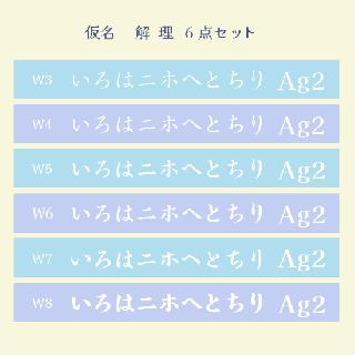 仮名 解  理 Set