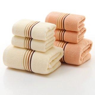 お洒落な高級長綿タオル Towel1 フェイスタオル ブラウン