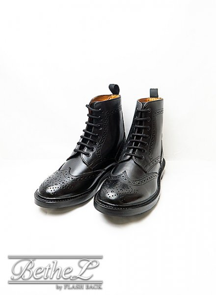 WALL SALL/ウォールソール WING TIP HI BLACK