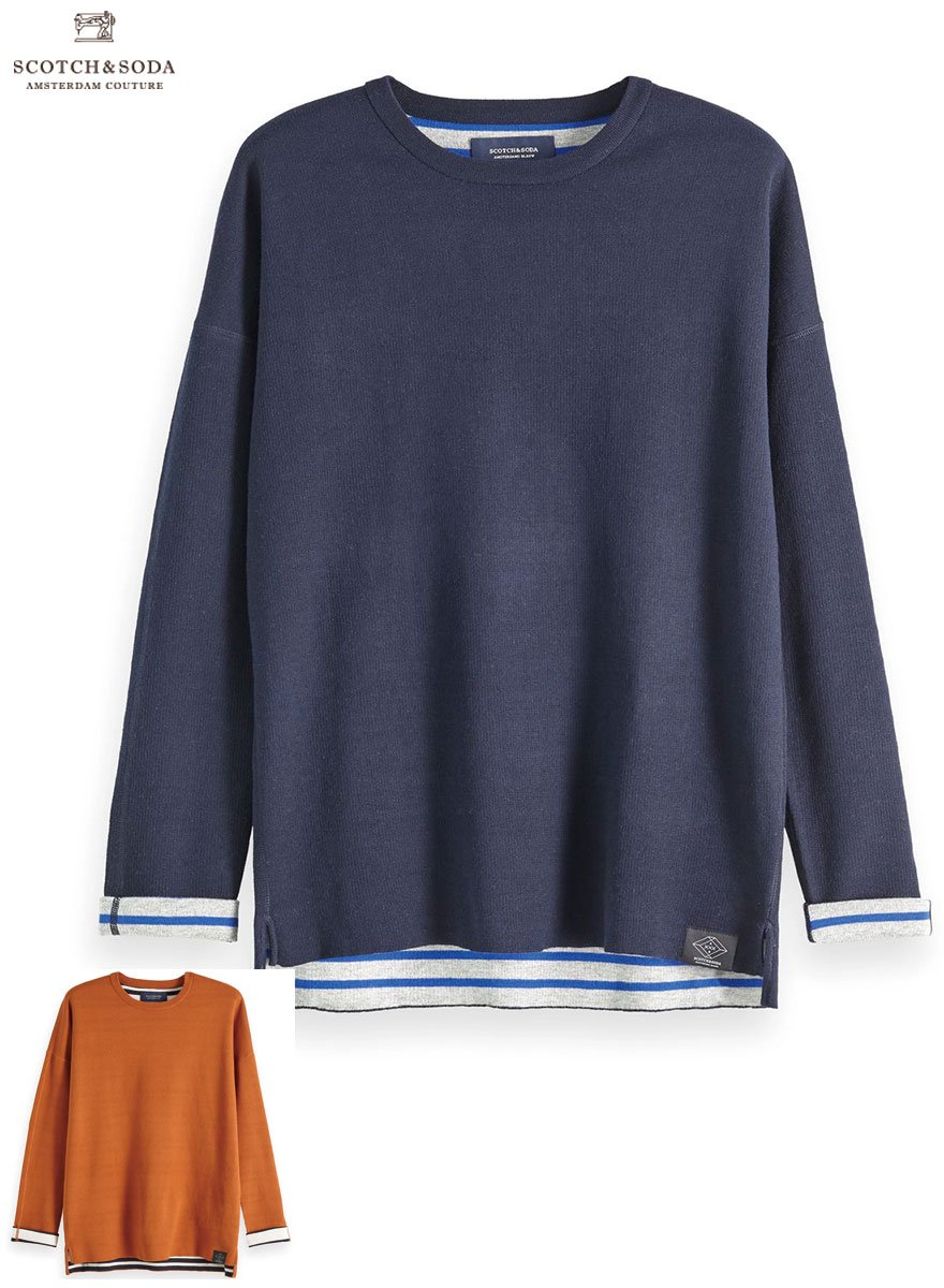 SCOTCH&SODA/スコッチ&ソーダ  Reversible Contrast Pullover 2Color