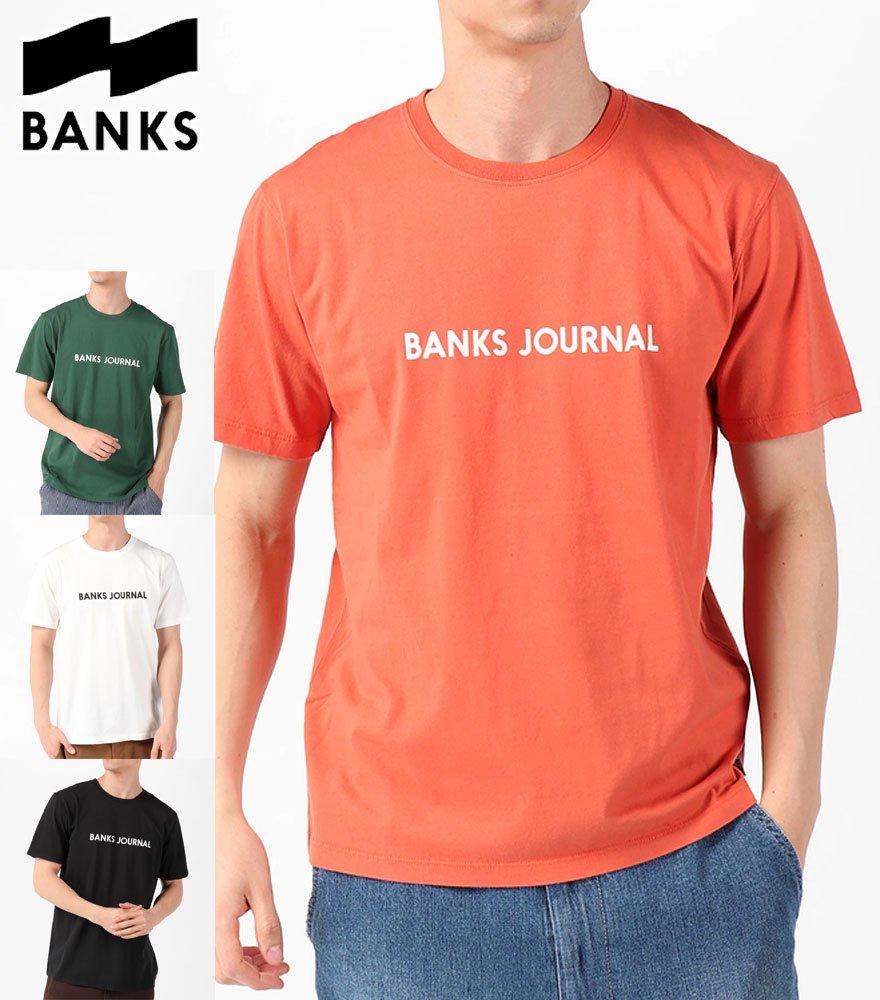 BANKS JOURNAL/バンクスジャーナル  LABEL TEE SHIRT 全4色