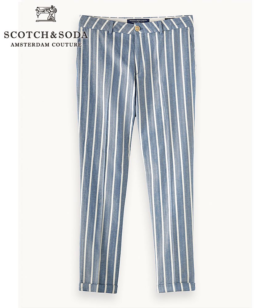 SCOTCH&SODA/スコッチ&ソーダ トラウザーズパンツ FAVE-Regular Tapered Fit Stripe Trousers 292-11527 【155051】