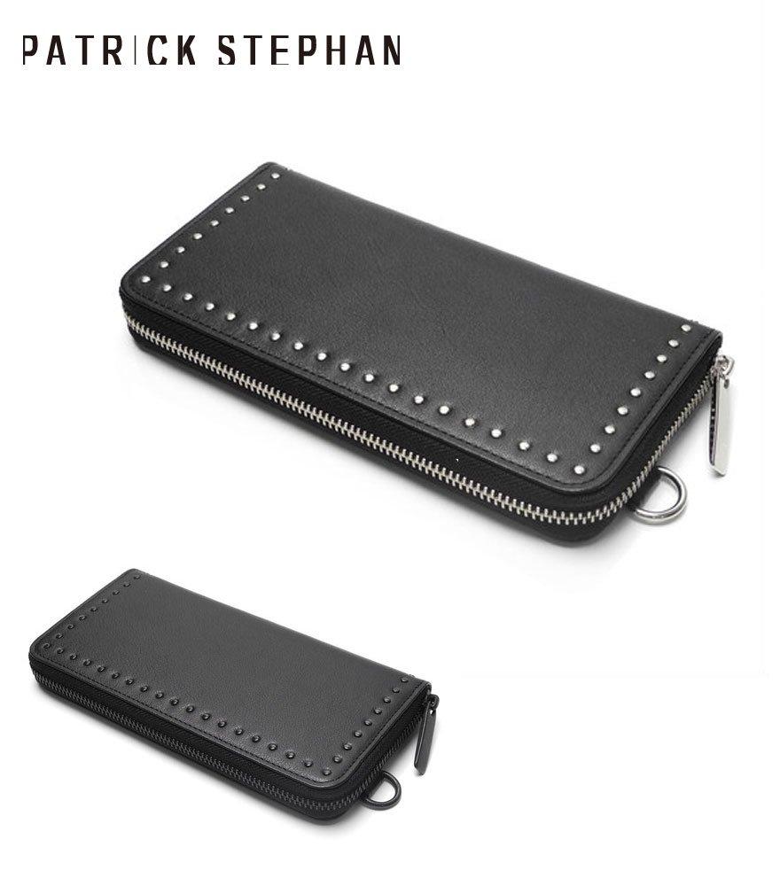 PATRICK STEPHAN/パトリックステファン ロングウォレット Leather long wallet fold 'corner studs' KS 全2色