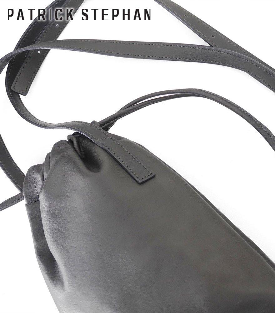 PATRICK STEPHAN/パトリックステファン ショルダーバッグ Leather cell phone bag 'drawstring'