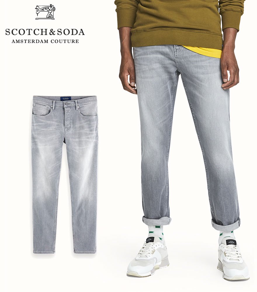 SCOTCH&SODA/スコッチ&ソーダ ジーンズ The Norm - Stone And Sand High-Rise Straight Fit Jeans 282-25518【156703】
