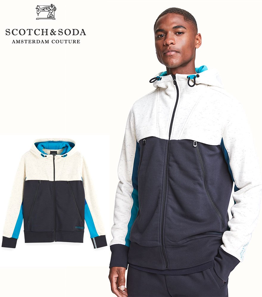 SCOTCH&SODA/スコッチ&ソーダ Club Nomade Cotton-blend seasonal long sleeve hoodie  282-23822 【158824】