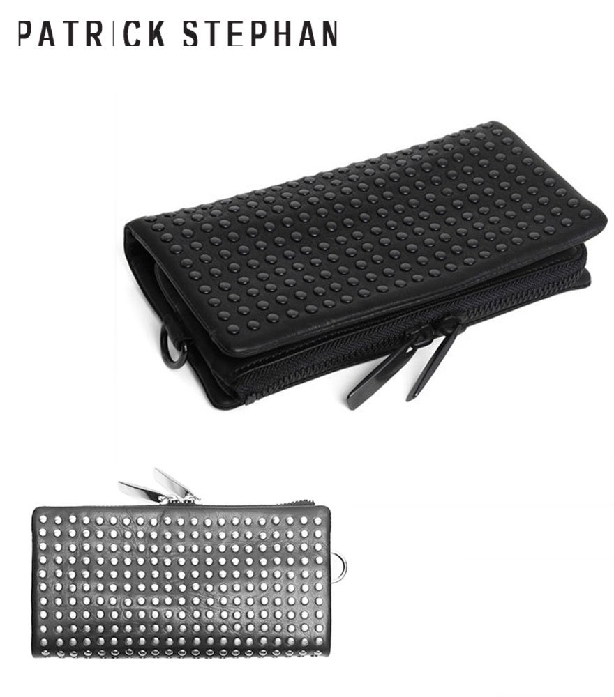PATRICK STEPHAN/パトリックステファン ロングウォレット Leather long wallet 'all-studs' 2 全2色