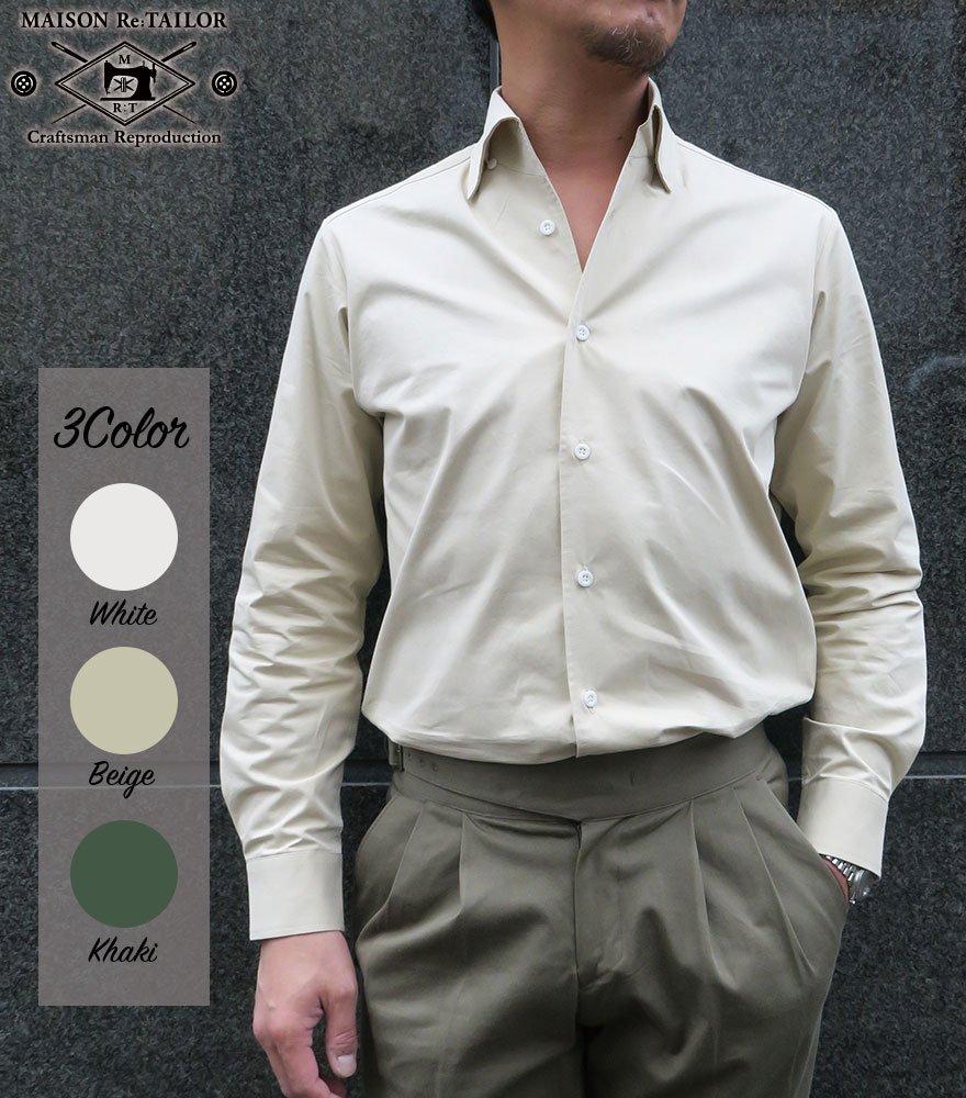 MAISON Re:TAILOR/メゾン リテイラー ブロード イタリアンカラーBDシャツ 3Color