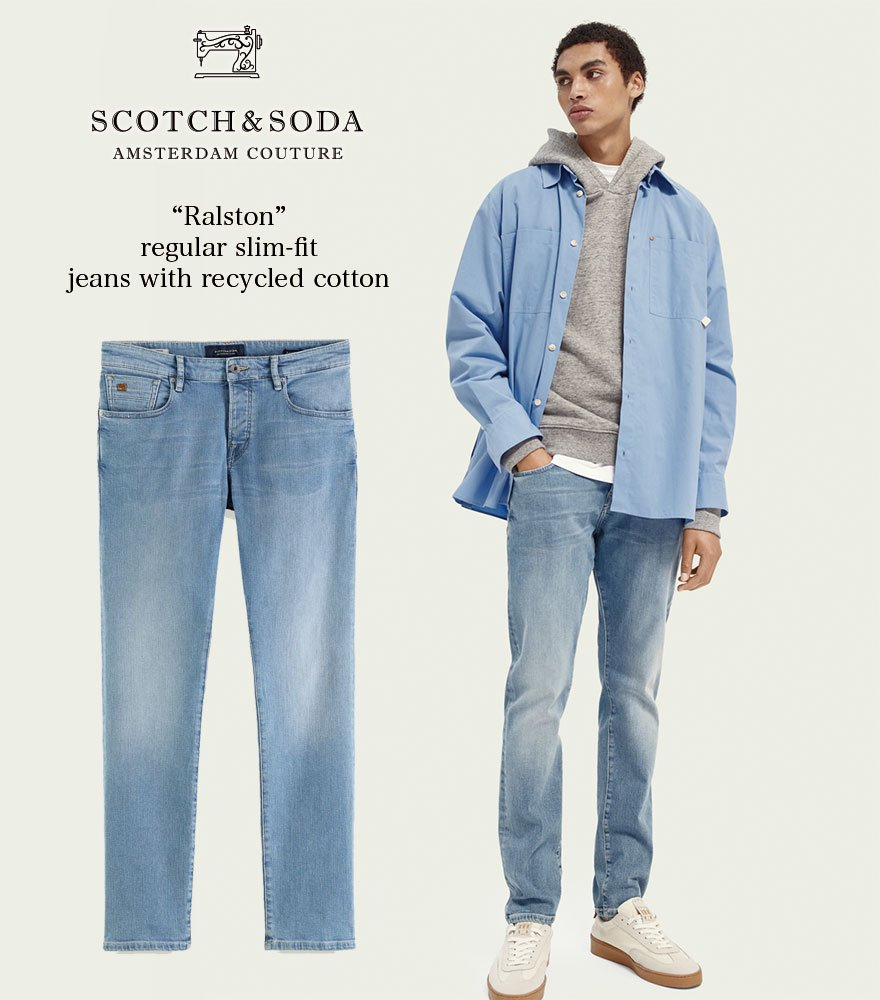 SCOTCH&SODA/スコッチ&ソーダ スリムフィットデニム RALSTON - Regular Slim-Fit Recycled Cotton 292-35516【160438】