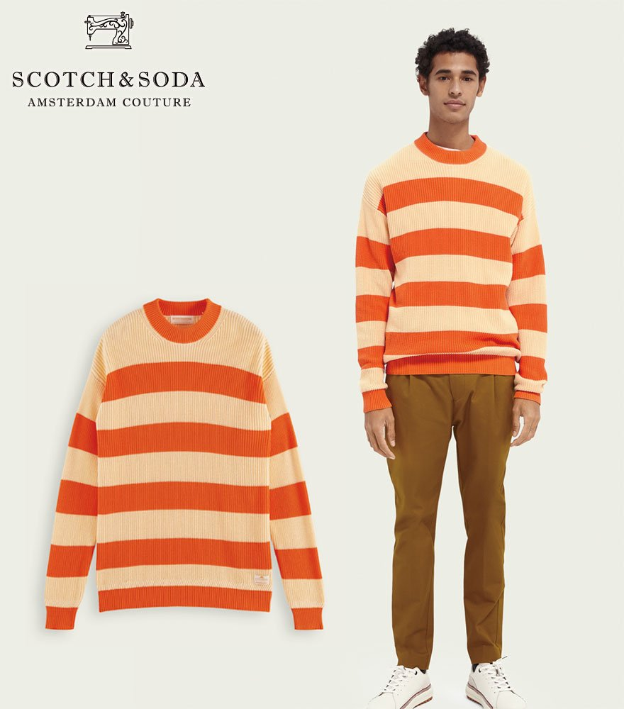 SCOTCH&SODA/スコッチ&ソーダ ボーダーニット  Block stripe rib knit sweater 292-35406【160907】