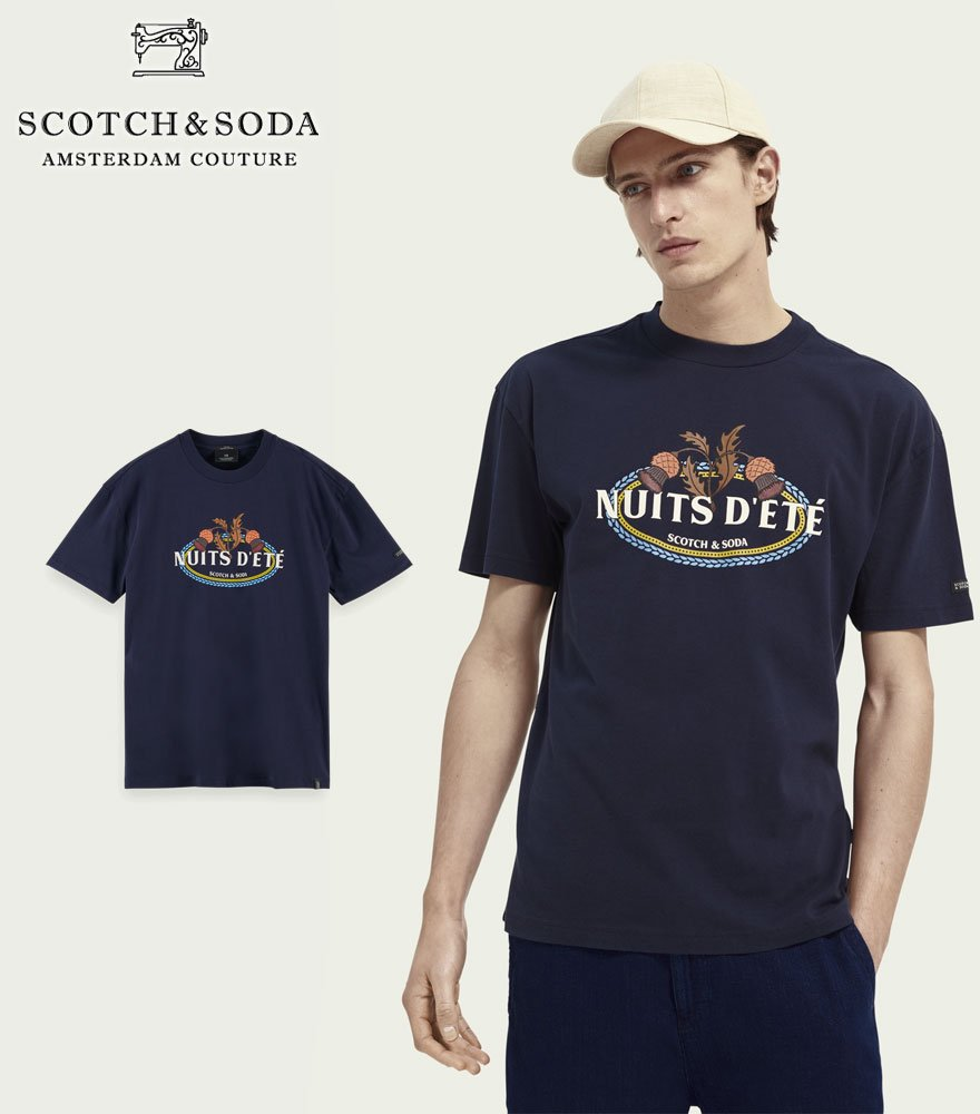 SCOTCH&SODA/スコッチ&ソーダ プリントTシャツ Artwork print crewneck organic cotton T-shirt 292-34407 【160848】
