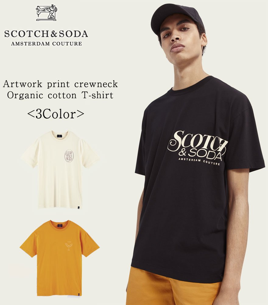 <img class='new_mark_img1' src='https://img.shop-pro.jp/img/new/icons14.gif' style='border:none;display:inline;margin:0px;padding:0px;width:auto;' />SCOTCH&SODA/スコッチ&ソーダ プリントTシャツ Organic cotton artwork T-shirt 292-34415 【160859】全3色