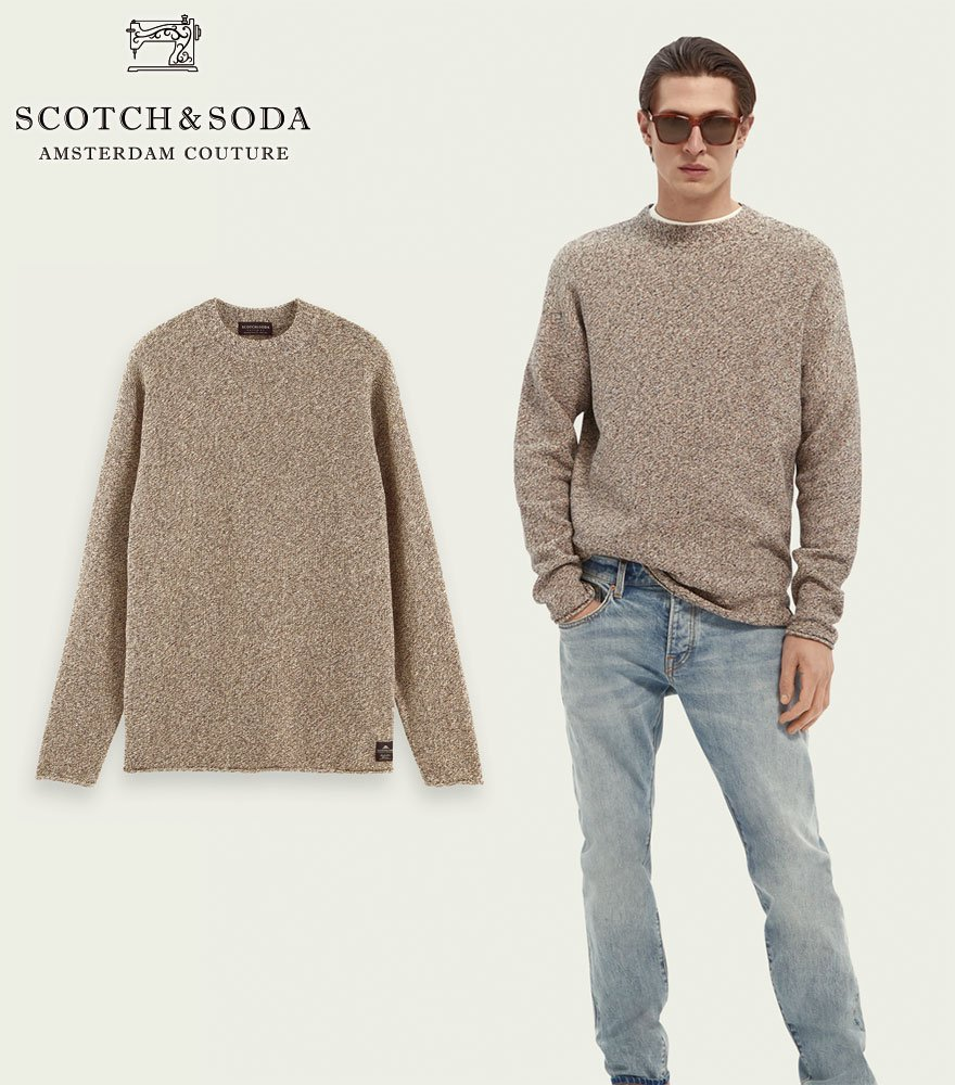 <img class='new_mark_img1' src='https://img.shop-pro.jp/img/new/icons14.gif' style='border:none;display:inline;margin:0px;padding:0px;width:auto;' />SCOTCH&SODA/スコッチ&ソーダ コットンニット ブラウン  Lightweight sweater 282-45402【164870】