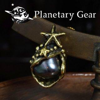 【 Planetary Gear 】 海のしずくのイヤリング ( 淡水パール )
