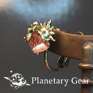 【 Planetary Gear 】 星のカケラのイヤリング ( サンストーン )