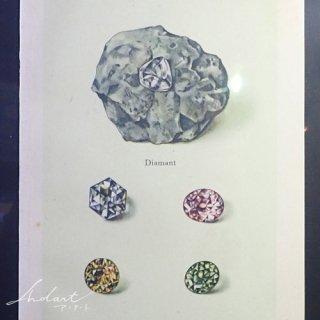 【 Andart 】 鉱物の図版 / ダイアモンド・ルビー