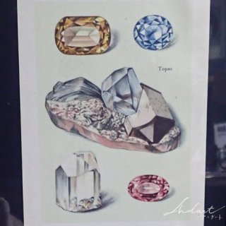 【 Andart 】鉱物の図版 / トパーズ・アクアマリンetc…