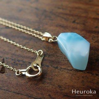 【 Heuroka 】ラリマーのネックレス K18YG