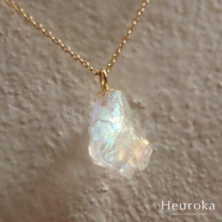 【 Heuroka 】6月の誕生石/レインボームーンストーンのネックレス