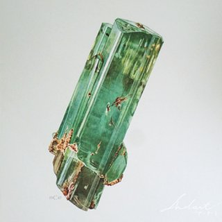 【 Andart 】 鉱物の図版-BÉRYL-緑柱石